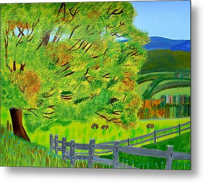 The Tree Of Joy Metal Print by Magdalena Frohnsdorff