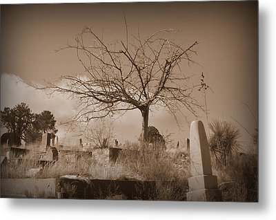 The Tree On Boot Hill  Metal Print