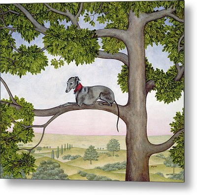 The Tree Whippet Metal Print by Ditz