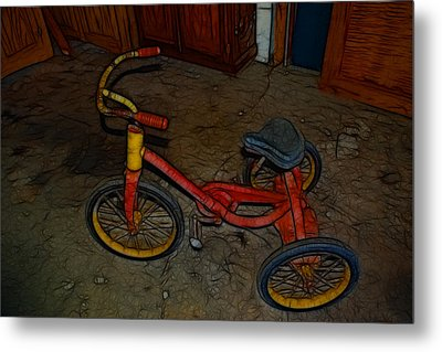 The Tricycle Metal Print