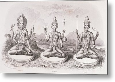The Trimurti Or Hindu Trinity Metal Print by English School