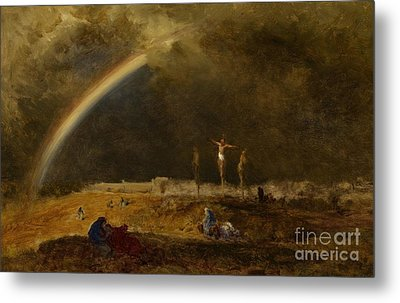 The Triumph At Calvary Metal Print by George Inness