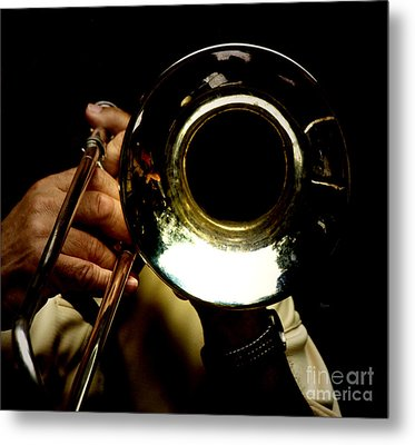 The Trombone   Metal Print by Steven Digman