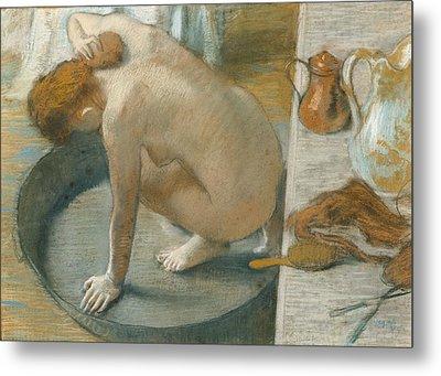 The Tub Metal Print by Edgar Degas
