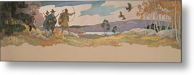 The Turkey Hunters Metal Print by Newell Convers Wyeth