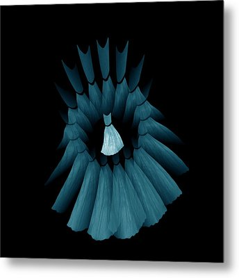 The Turquoise Dream Circle Of Wise Women Metal Print by Jacqueline Migell