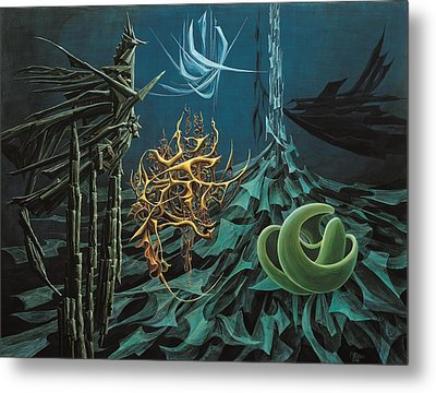 The Turquoise Night Metal Print by Charles Cater