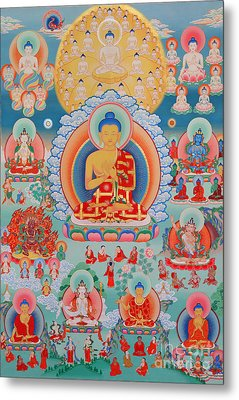 The Twelve Primordial Teachers Of Dzogchen - Tonpa Chu Ni Metal Print