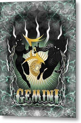 The Twins Gemini Spirits Metal Print