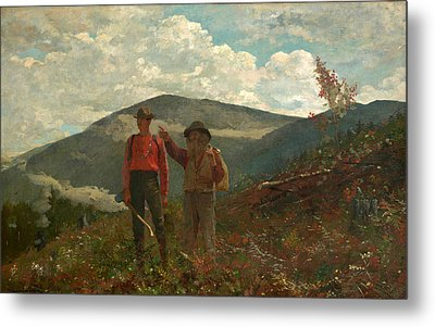 The Two Guides Metal Print by Winslow Homer