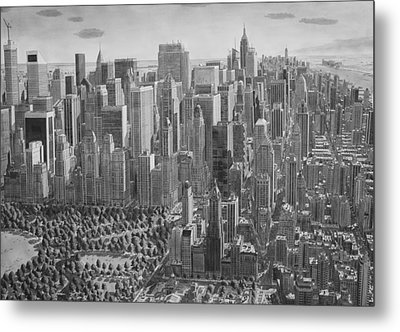 The Ultimate New York City Drawing Metal Print by Stefan Bleekrode