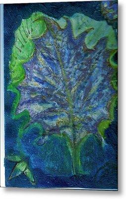 The Underside Of The Autumn Leaf Metal Print by Anne-Elizabeth Whiteway