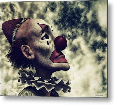 The Understanding Clown Metal Print