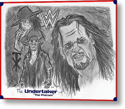 The Undertaker Metal Print by Chris  DelVecchio