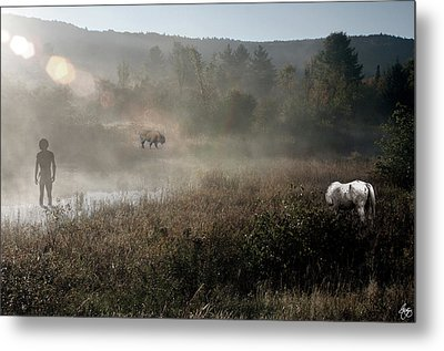 The Unexpected Visitor Metal Print