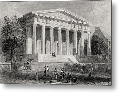 The United States Bank Philadelphia Usa Metal Print by Vintage Design Pics