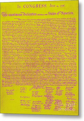 The United States Declaration Of Independence 20130215m68 Metal Print by Wingsdomain Art and Photography