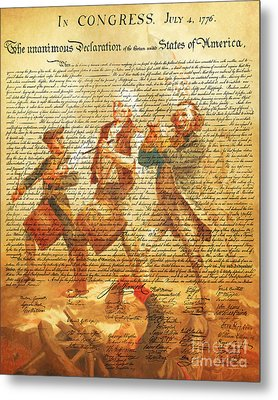 The United States Declaration Of Independence And The Spirit Of 76 20150704v2 Metal Print