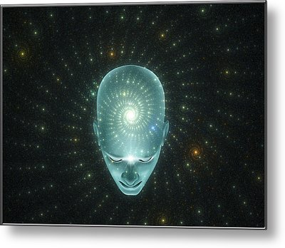 The Universal Thought  Metal Print by Harald Dastis