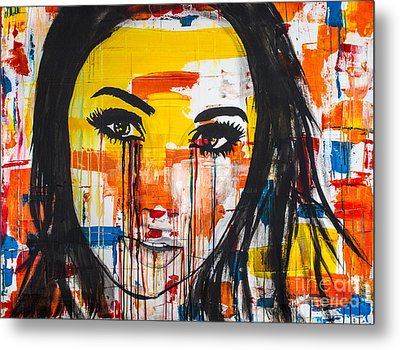 Metal Print featuring the painting The Unseen Emotions Of Her Innocence by Bruce Stanfield