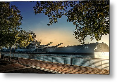 The Uss New Jersey Metal Print by Marvin Spates