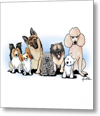 The Usual Suspects 3 Metal Print by Kim Niles