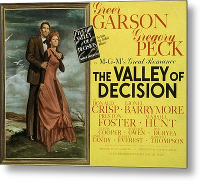 The Valley Of Decision, Gregory Peck Metal Print by Everett
