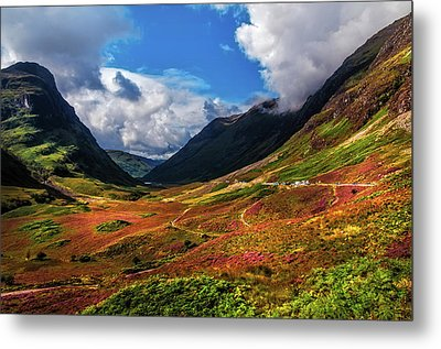 The Valley Of Three Sisters. Glencoe. Scotland Metal Print