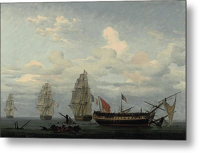 The Vanquished Frigate Metal Print by MotionAge Designs