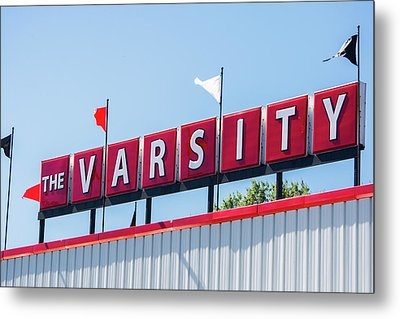 Metal Print featuring the photograph The Varsity Sign by Parker Cunningham