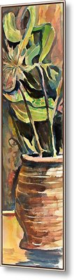 The Vase In The Corner Metal Print by Mindy Newman