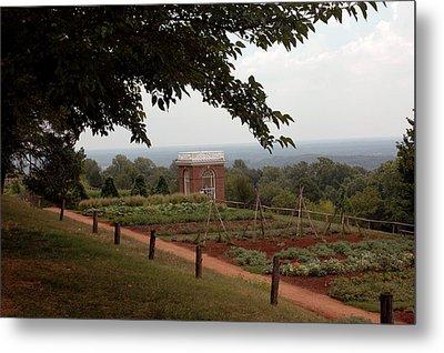The Vegetable Garden At Monticello Metal Print