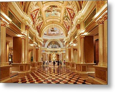 The Venetian Hotel Lobby  Las Vegas Metal Print