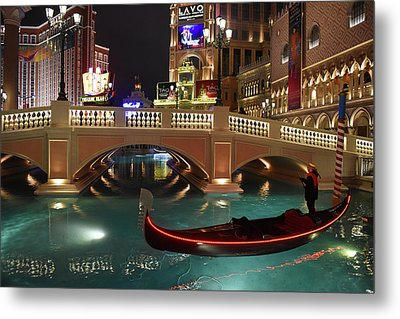 Metal Print featuring the photograph The Venetian Las Vegas by Dung Ma