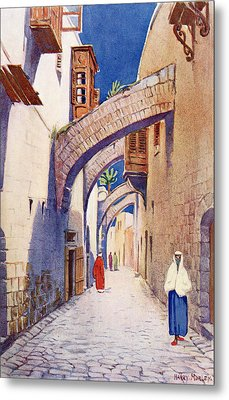 The Via Dolorosa, Jerusalem, Palestine Metal Print