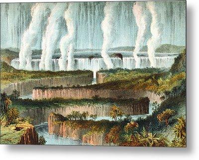 The Victoria Falls Or Mosi-oa-tunya Metal Print by Vintage Design Pics