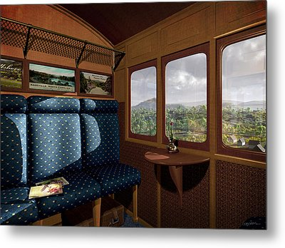 The View From Marion Station Metal Print by Cynthia Decker