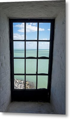 The View From The Lighthouse Window Bill Baggs Lighthouse Key Biscayne Florida Metal Print