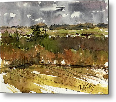 The View On Burlingame Road Metal Print by Judith Levins