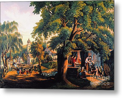 The Village Blacksmith Metal Print by Granger