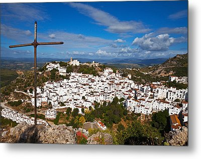 The Village Of Casares, Malaga Metal Print by Panoramic Images