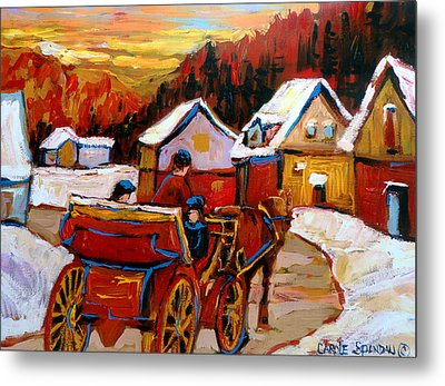 The Village Of Saint Jerome Metal Print by Carole Spandau