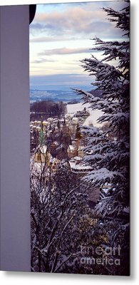 Metal Print featuring the photograph The Village - Winter In Switzerland by Susanne Van Hulst