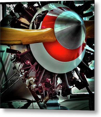 Metal Print featuring the photograph The Vintage Stearman C-3b Biplane by David Patterson