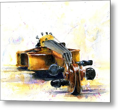 The Violin Metal Print by John D Benson