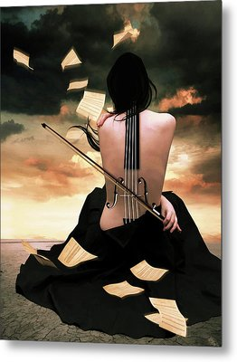 The Violin Song Metal Print