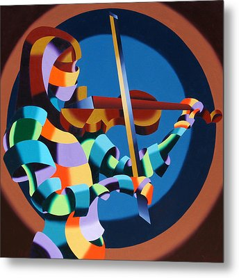The Violinist Metal Print by Mark Webster