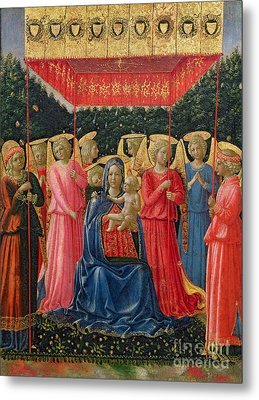 The Virgin And Child With Angels Metal Print by Fra Angelico