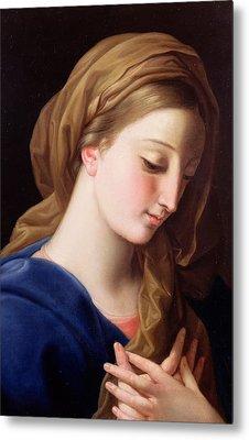 The Virgin Annunciate Metal Print by  Pompeo Girolamo Batoni