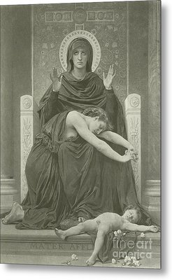 The Virgin Comforter Metal Print by William-Adolphe Bouguereau